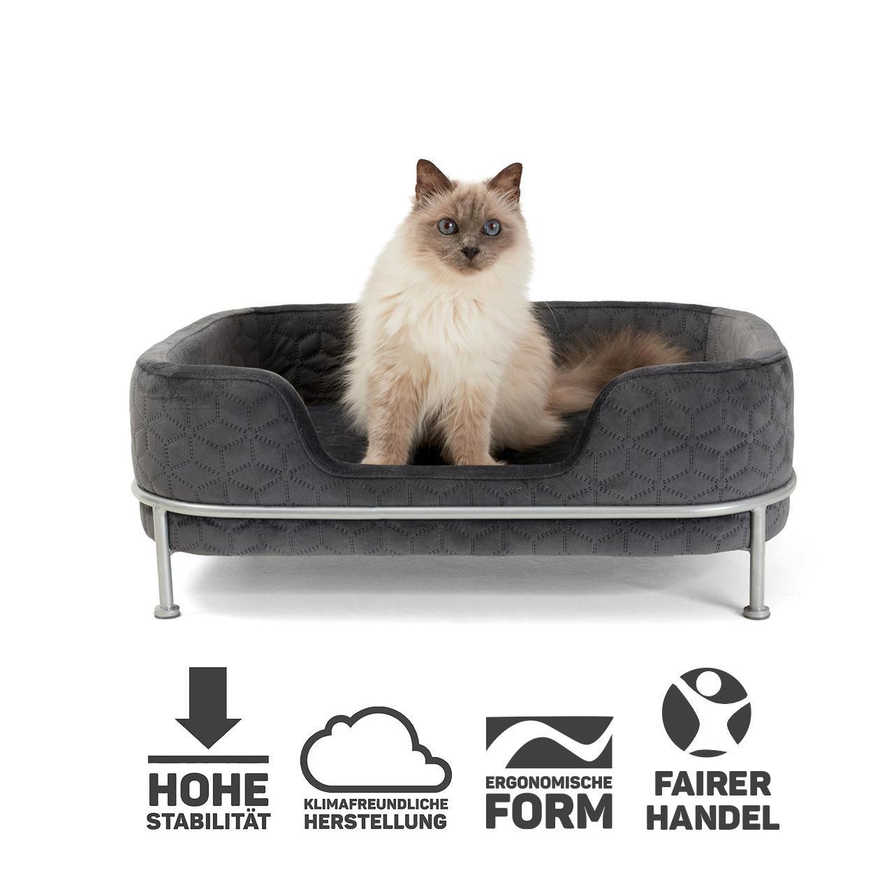 13+ Berth Pet bed Windsor   8 x 8,8 x 28,8 cm   grey   Cat basket ... Stock