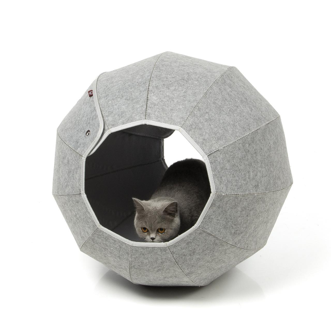 19+ Katzenbett aus Filz Filzlounge AVA   Ø 8cm & Ø 8cm   anthrazit ... Fotografie